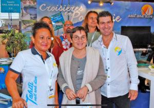 Annick-Girardin-Ministre-outre-mer-salon-nautique2019-tahitisailanddive