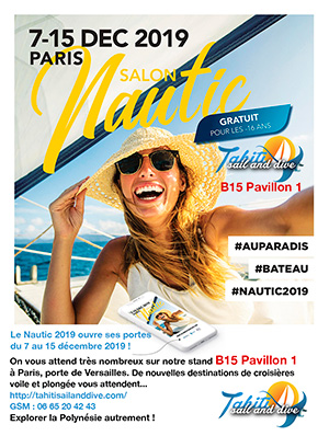 tahiti sail and dive au salon nautic